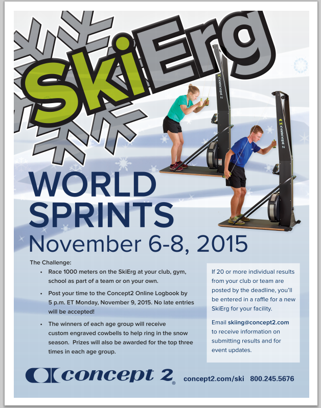 SkiErg World Sprints 2015